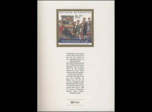 Jahresgabe der Post Weihnachten 1988, ohne Marke