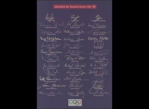 Jahresgabe der Post Olympiade, ESSt Bonn 6.2.1992