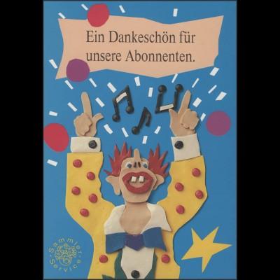 Jahresgabe der Post Clown-Block Kinder ESSt 1993