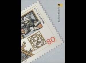 Jahresgabe der Post 1. DEUTSCHLAND-Marke Regensburg, ESSt 6.4.1995