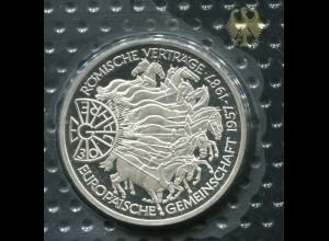 Gedenkmünze Europäische Gemeinschaft 10 DM von 1987, PP polierte Platte