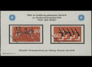 Sporthilfe Sonderdruck aus Berlin-MH Gymnastik Turnen 1981