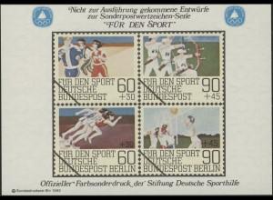Sporthilfe Sonderdruck II Breitensport Bogenschießen Dauerlauf 1982