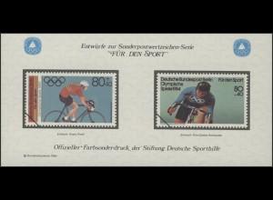 Sporthilfe Sonderdruck aus Berlin-MH Radrennen 1984