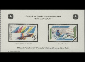 Sporthilfe Sonderdruck aus Bund-MH Segeln 1987