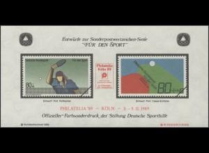 Sporthilfe Sonderdruck aus Bund-MH Tischtennis 1989 Philatelia Köln