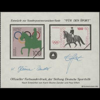 Sporthilfe Sonderdruck aus MH 1992 Reiten **