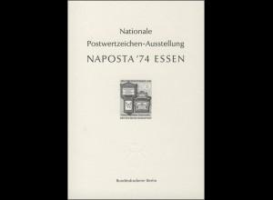 NAPOSTA Essen Sonderdruck 1974 schwarz klein