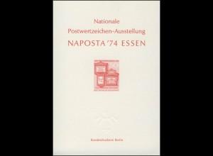 NAPOSTA Essen Sonderdruck 1974 rot
