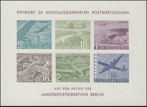 Berlin-Sonderdruck Luftpostsalon 1969