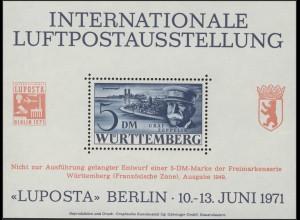 Berlin-Sonderdruck LUPOSTA 1971 Graf Zeppelin