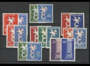 Gemeinschaft / CEPT / Europa 1958 Jahrgang 8 Ausgaben komplett **