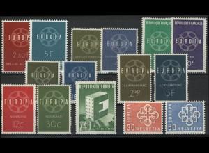 Gemeinschaft / CEPT / Europa 1959 Jahrgang 8 Ausgaben komplett **
