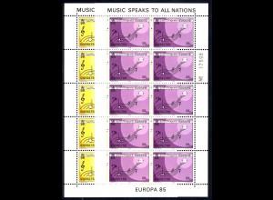 1985 Gibraltar 487/488 - Kleinbogen-Satz, **