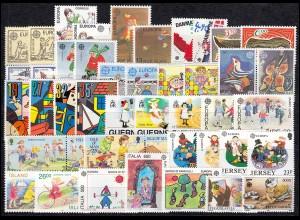 Gemeinschaft / CEPT / Europa 1989 Jahrgang 35 Ausgaben komplett **