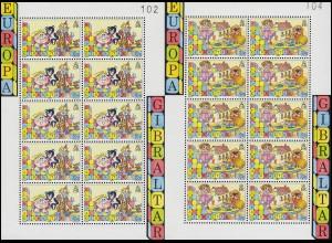 1989 Gibraltar 563/564 - Kleinbögen-Satz, postfrisch **