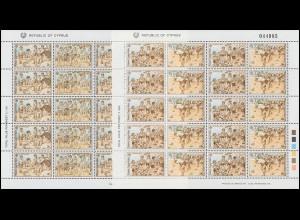 1989 Zypern 715-718 Kinderspiele, Zusammendruck-Bogensatz postfrisch **