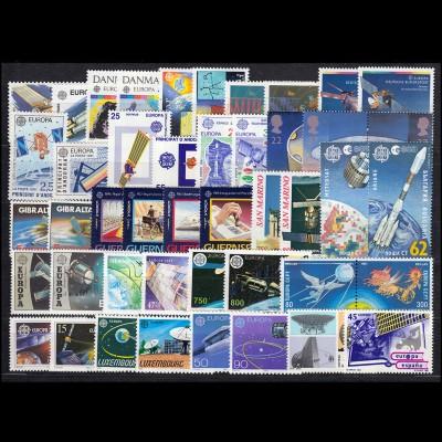 Gemeinschaft / CEPT / Europa 1991 Jahrgang 40 Ausgaben komplett **