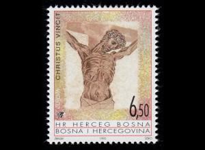 1995 Bosnien-Herzegowina (Kroatische Post Mostar) 26 Christus am Kreuz, **