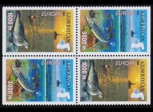 2001 Aserbaidschan 494D-495D Lebensspender Wasser, Heftchenblatt **