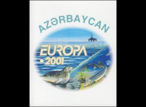 2001 Aserbaidschan 494D-495D Lebensspender Wasser, Markenheftchen **