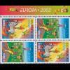 2002 Aserbaidschan 513D-514D Zirkus, Heftchenblatt ** postfrisch
