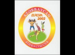 2002 Aserbaidschan 513D-514D Zirkus, Markenheftchen ** postfrisch