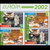 2002 Georgien 397D-398D Zirkus, Heftchenblatt ** postfrisch