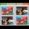 2003 Aserbaidschan 543D-544D Plakatkunst, Heftchenblatt ** postfrisch
