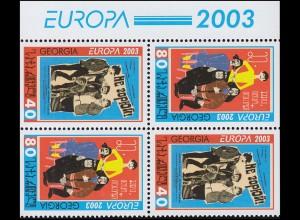 2003 Georgien 420D-421D Plakatkunst, Heftchenblatt **