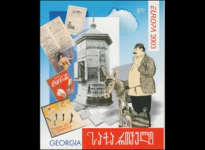2003 Georgien 420D-421D Plakatkunst, Markenheftchen **