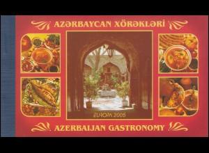 2005 Aserbaidschan 608A/D/E-609A/D/E Gastronomie, Markenheftchen ** postfrisch