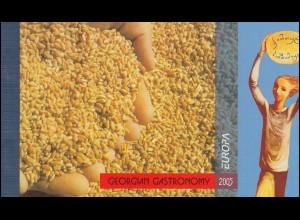 2005 Georgien 482-483 Gastronomie, Markenheftchen ** postfrisch