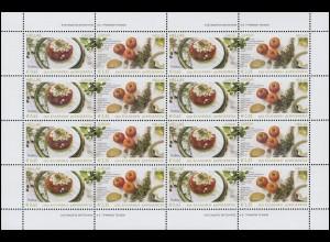 2005 Griechenland 2290-2291 Gastronomie, Zusammendruck-Kleinbogen **
