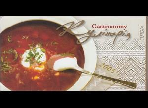 2005 Ukraine 721-722 Gastronomie, Markenheftchen 6 ** postfrisch