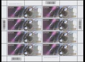 2009 Griechenland 2511-2512A Astronomie, Zusammendruck-Kleinbogen **