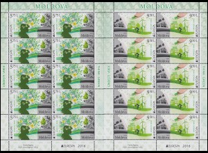 2016 Moldawien 948-949 Umweltbewußt leben, Kleinbogen-Satz ** postfrisch