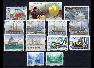 Skandinavien Gemeinschaftsausgaben Jahrgang 1998, 7 Ausgaben, ** postfrisch