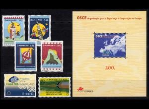 Europa Sympathieausgaben/Mitläufer Jahrgang 1996, 4 Ausgaben, ** postfrisch