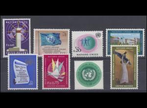 1-8 UNO Genf Jahrgang 1969 komplett, postfrisch **