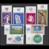 1-8 UNO Genf Jahrgang 1969 komplett - mit TAB, postfrisch