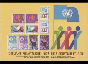 UNO Genf Jahressammelmappe 1975, postfrisch **
