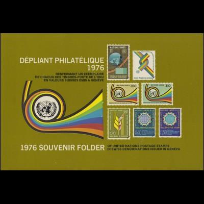 UNO Genf Jahressammelmappe 1976, gestempelt
