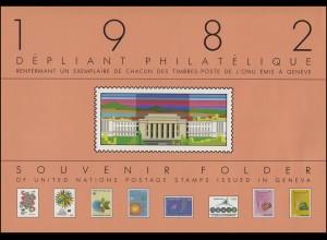UNO Genf Jahressammelmappe 1982, postfrisch **