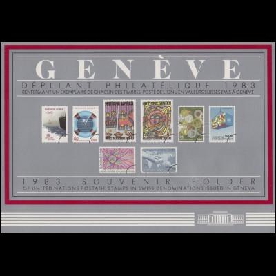 UNO Genf Jahressammelmappe 1983, postfrisch **