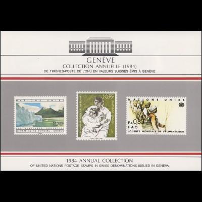UNO Genf Jahressammelmappe 1984, postfrisch **