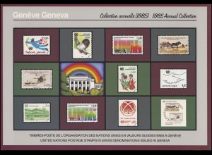 UNO Genf Jahressammelmappe 1985, postfrisch **
