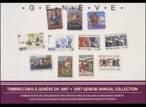 UNO Genf Jahressammelmappe 1987, postfrisch **