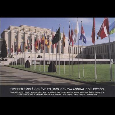 UNO Genf Jahressammelmappe 1989, postfrisch **
