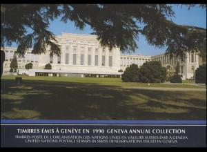 UNO Genf Jahressammelmappe 1990, postfrisch **
